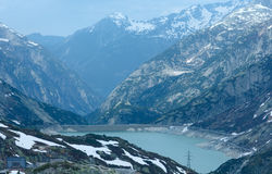 The Grimsel Pass summer landscape with lake (Switzerland). Stock Photos