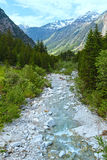 Grimsel Pass summer landscape (Switzerland). Stock Image