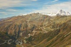 grimsel przepustka Switzerland zdjęcie stock
