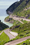 Grimselpass road Royalty Free Stock Photo