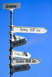 Grimsey signpost, Iceland Stock Image