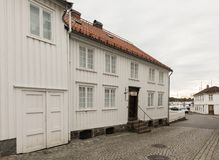 Grimstad Norwegia, Październik, - 31, 2017: Henrik Ibsen muzeum w Grimstad obraz stock