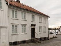 Grimstad Norwegia, Październik, - 31, 2017: Henrik Ibsen muzeum w Grimstad zdjęcia royalty free