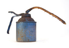 Grimy Blue Oil Can Royalty Free Stock Photo