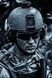 Grimy dirty face of US Army Ranger Royalty Free Stock Photo