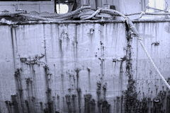 Grimy Old Ship Hull Royalty Free Stock Image