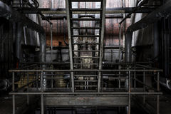Grimy Staircase - Abandoned Factory - New York royalty free stock image