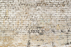 Grimy White Dirt Stained Painted Grunge Wall Stock Photography