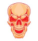 Grin the skull. Halloween illustration. royalty free illustration