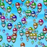 Grin smiling balloons generated hires texture Royalty Free Stock Images