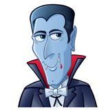Grina det Dracula tecknad filmteckenet royaltyfri foto