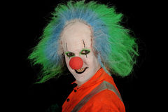 grina för clown Fotografering för Bildbyråer