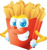 Grina för pommes fritestecknad film Royaltyfria Bilder