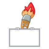 Grina med tecknade filmen för tecken för brädemålarfärgborste Royaltyfria Bilder