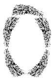 Grinalda bonita das papoilas Fotos de Stock