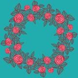 Grinalda bonita das rosas. ilustração royalty free