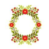 Grinalda bonito do casamento com flores e ramos Fotografia de Stock Royalty Free