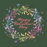 Grinalda colorido feliz do dia de Valentim Imagens de Stock