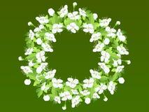 Grinalda com flores brancas Fotos de Stock