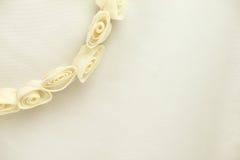 Grinalda da flor do casamento do marfim Imagens de Stock Royalty Free