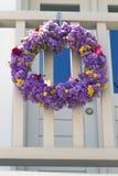 Grinalda da flor em greece Imagens de Stock