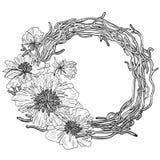 Grinalda da flor Planta de florescência ilustração do vetor