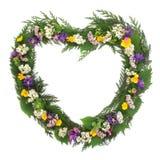 Grinalda da flor selvagem Foto de Stock