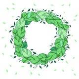 Grinalda da ilustração das folhas verdes Imagem de Stock