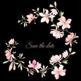 Grinalda das flores no estilo da aquarela Foto de Stock Royalty Free