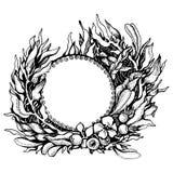 Grinalda das folhas da fantasia ilustração royalty free