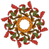 Grinalda das folhas de outono Colorido brilhantemente Fotografia de Stock