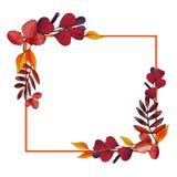 Grinalda das folhas de outono do simlpe Quadro do retângulo ilustração royalty free