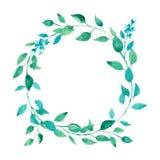Grinalda das folhas verdes Imagem de Stock