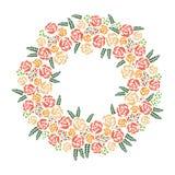 Grinalda das rosas ilustração royalty free