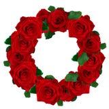 Grinalda das rosas vermelhas fotografia de stock royalty free