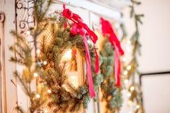 Grinalda de Advent Christmas Imagens de Stock