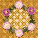 Grinalda de crisântemos amarelos. Fotos de Stock