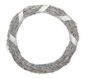 Grinalda de prata do Natal isolada no fundo branco Fotografia de Stock