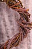 Grinalda de ramos do salgueiro Imagens de Stock Royalty Free