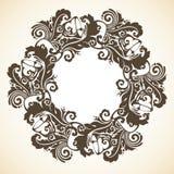 Grinalda decorativa decorativa do Natal Foto de Stock Royalty Free