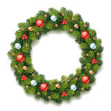 Grinalda detalhada do Natal Imagem de Stock Royalty Free