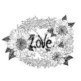 Grinalda do amor ilustração royalty free