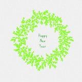 Grinalda do ano novo feliz ilustração do vetor