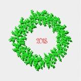 Grinalda do ano novo feliz ilustração stock