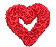 Grinalda do coração de Rosa Imagens de Stock