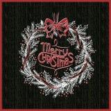Grinalda do Feliz Natal do quadro do brilho Imagens de Stock Royalty Free