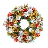 Grinalda do feriado (trajeto de grampeamento) Foto de Stock Royalty Free
