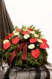 Grinalda do funeral imagens de stock royalty free
