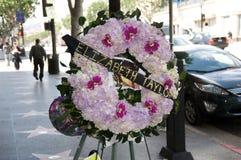 Grinalda do funeral de Elizabeth Taylor em Los Angeles Foto de Stock