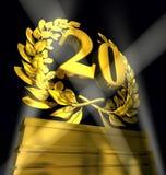 Grinalda do louro com número 20 Fotografia de Stock Royalty Free